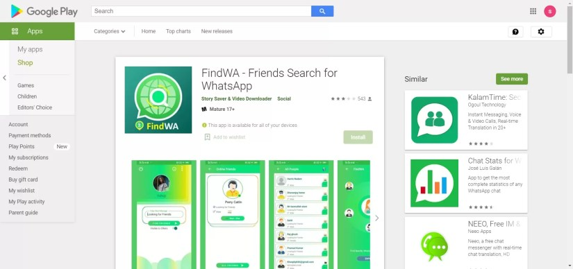 FindWA - Friends Search for WhatsApp