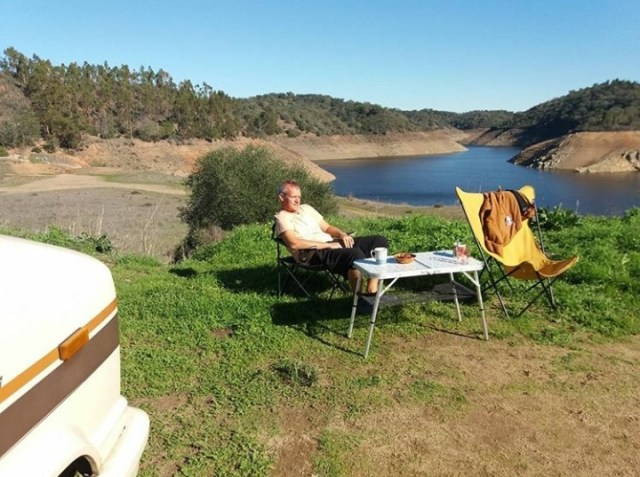 Portugal stausee camping Wohnmobil