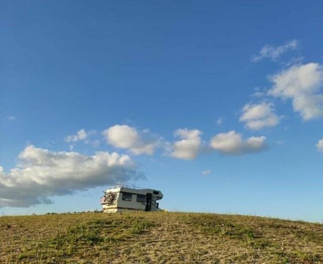 Wohnmboil Fernsicht wolken Himmel