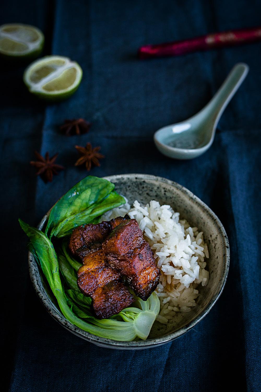 Sticky Schweinebauch mit Kokos Reis und Pak Choi | seelenschmeichelei.de