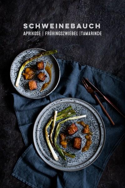 Schweinebauch sous vide | Aprikosen Tamarinden Chutney | gebratene Frühlingszwiebeln | seelenschmeichelei.de