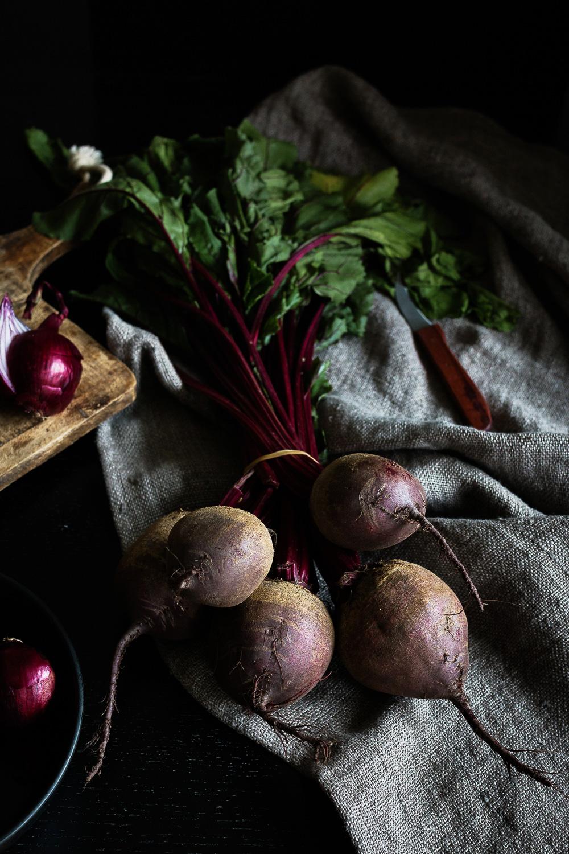 Rote Bete Salat | karamellisierter Chicoree | Pflaumen | seelenschmeichelei.de