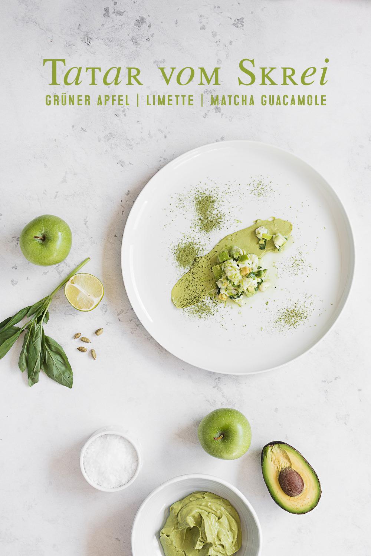 Skrei Limetten Tatar | Grüner Apfel | Matcha Guacamole | seelenschmeichelei.de