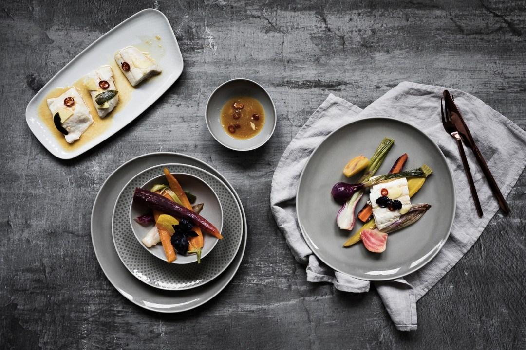 Gemuesesalat mit Orangen Miso Dressing und Schellfisch Asia Style | seelenschmeichelei.de