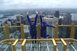 Hüpfbild auf dem Sydney Tower