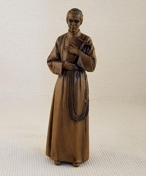 "8"" wood-tone Seelos statue"