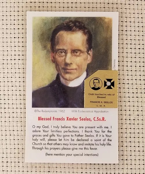 """Limitless Perfections"" Laminated Relic Prayer Card"