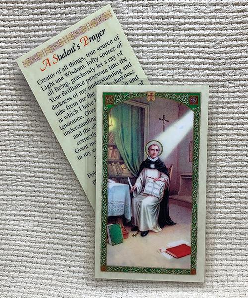 St. Thomas Aquinas Student's Prayer Card