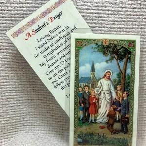 A Student's Prayer card
