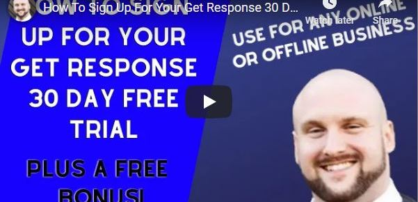 How To Sign Up For Your Get Response 30 Day Free Trial