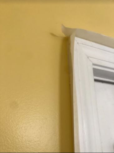 Paint prep with 2 inch masking tape