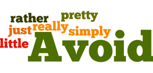 Filler words to avoid example