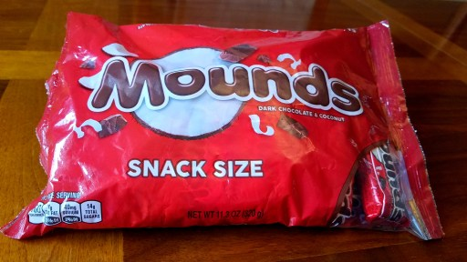 Mounds snack size bard