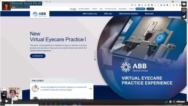 B2B Healthcare website for Website Quick Fix
