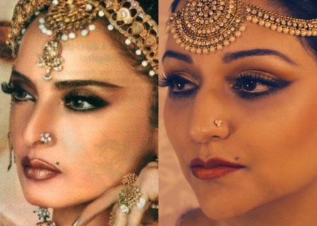 Bollywood Icon Rekha, Makeup Tutorial, Before and After, Ottawa Makeup Artist, Indian Style Makeup