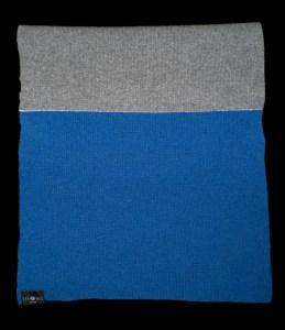 Emma Large Blue Reflective Cashmere Scarf