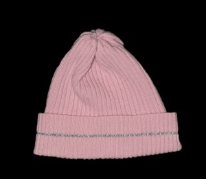 Reflective Nelly Pink Cashmere Hat