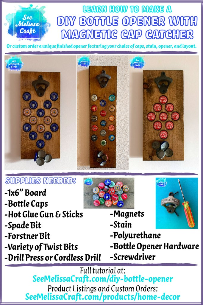 Learn how to make a DIY Bottle Opener with magnetic cap catcher