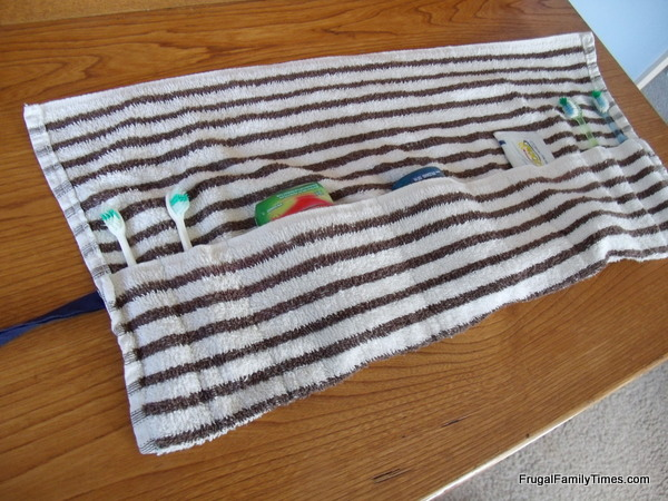 No Mess, Easy Sew Toothbrush Travel Bag from Frugal Family Times