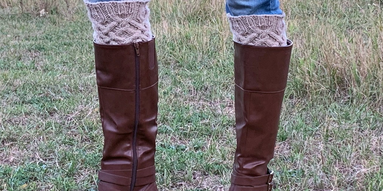 Celtic Cable Boot Toppers Knit Pattern