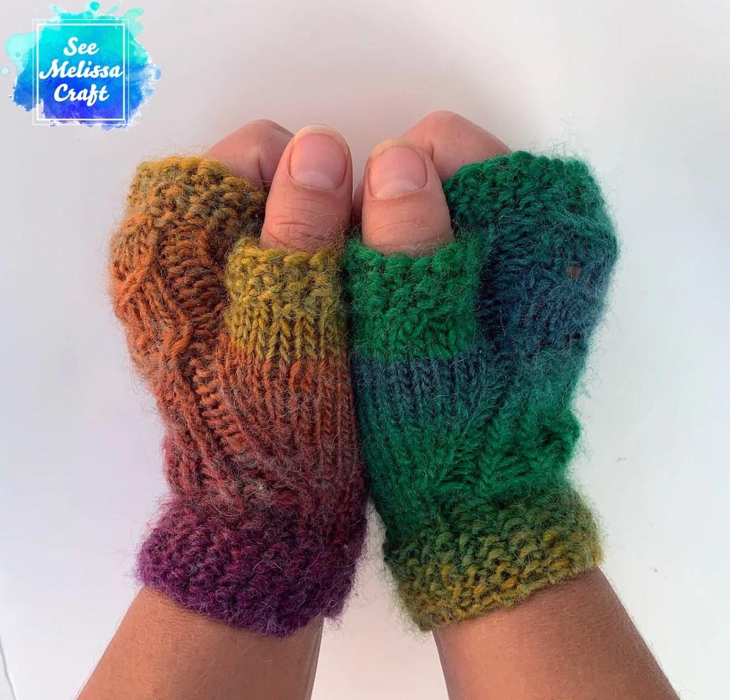 Side of Pixie fingerless gloves