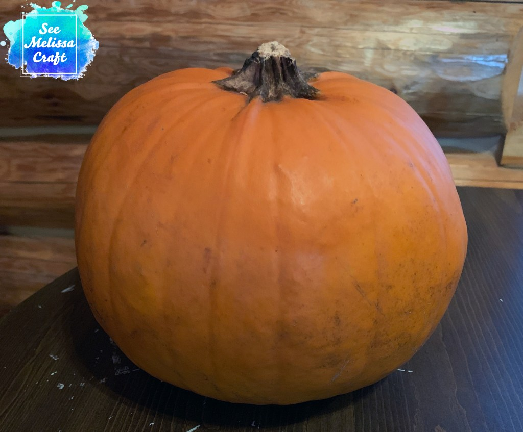 Pumpkin ready to decorate with a free carving template