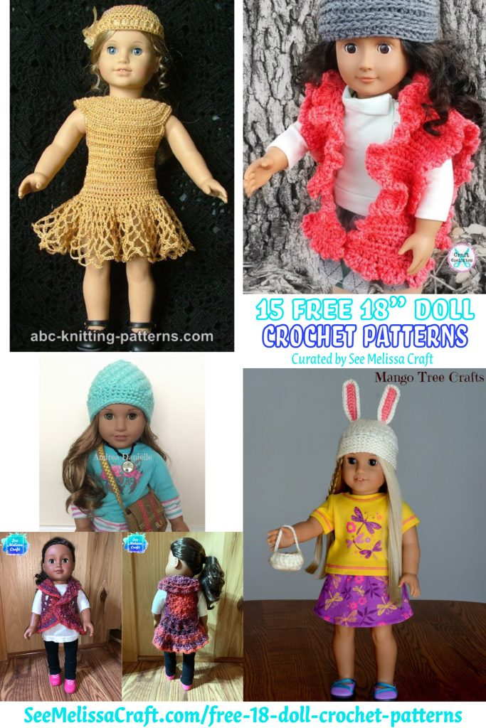 "Free 18"" doll crochet patterns"