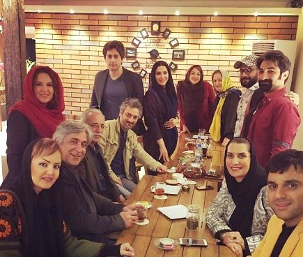 هنرمندان در جشن تولد شهره سلطانی