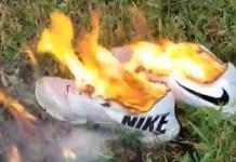 Burning Nike Shoes