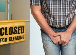 Toilets Closed For Cleaning