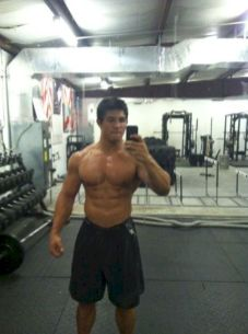 see my boyfriend slim torso and waist and nice gay beefy arms