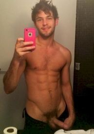 scruff ripped guy selfie - gay hipster amateur