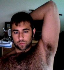 Hairy chested Men Selfies