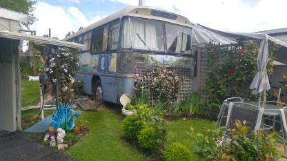 Dauercamper mit Vorgarten