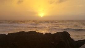 Sunset bei den Pancake Rocke