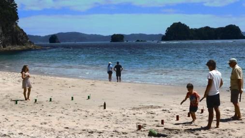 Beach Kubb at Hahei