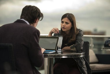 Clara (JENNA-LOUISE COLEMAN), The Doctor (MATT SMITH). Image: BBC /  Adrian Rogers
