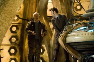 BERNARD CRIBBINS as Wilfred (Wilf) Mott, DAVID TENNANT as The Doctor. Image BBC