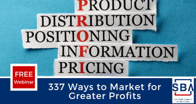 337 Ways to Market for Greater Profit Event Graphic
