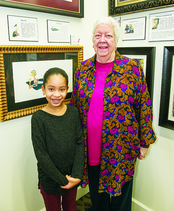 Kendall Baso, 8, and her grandmother Candace Spaulding, both of West Bloomfield