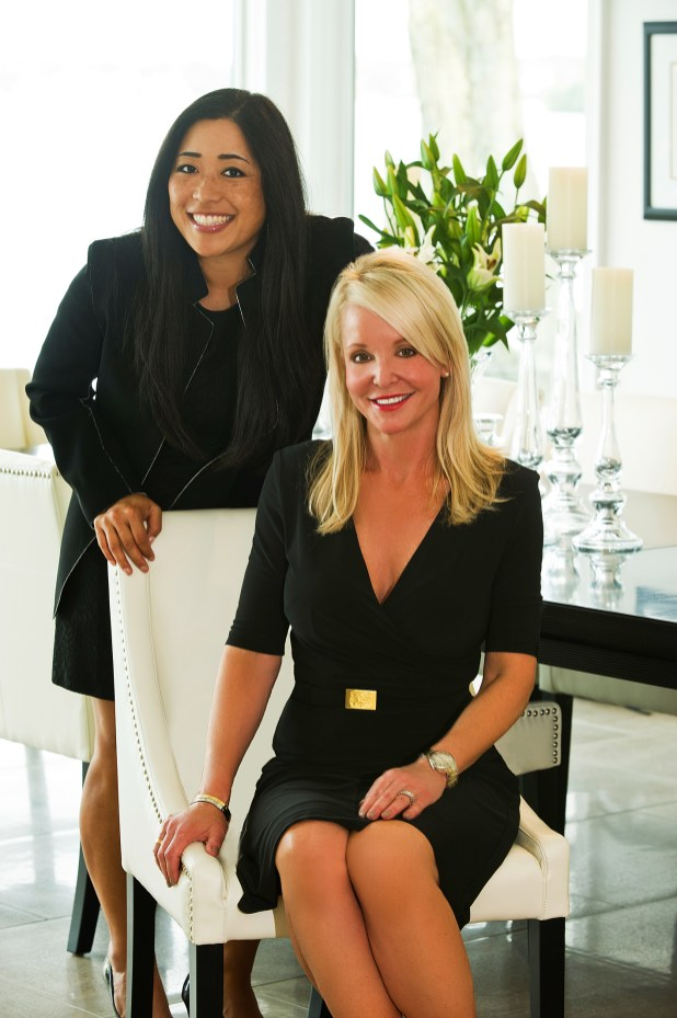 Interior designer Michelle Mio (standing) helped Jodee Smith realize the home of her dreams.