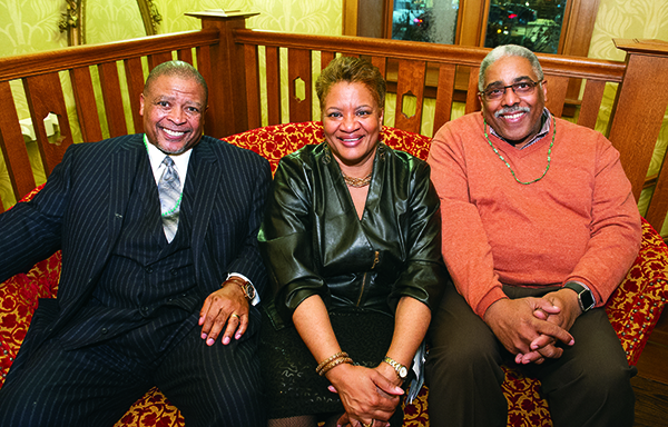 COTS Board Chairman Avery Williams of Detroit, COTS CEO Cheryl P. Johnson of Southfield and COTS CFO Reggie Conyers of Detroit