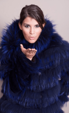 Blue Feathered Fur 2017 Winter Outerwear Trends