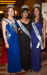Meghan Hescheles of Frankfort, Heather Laymond of Southfield and Simran Reddy of Northville.