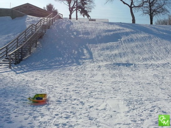 Kids have fun sledding at the Lincoln Hills Golf Course.