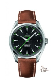 The Omega SEAMASTER AQUA TERRA GOLF WATCH (price available upon request) pays tribute to the Swiss brand's maritime heritage while embracing the global sport. Greis Jewelers, Farmington Hills (248-855-1730; greis.com).