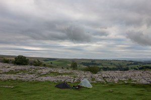 Wild camping in Yorkshire on the way of the roses