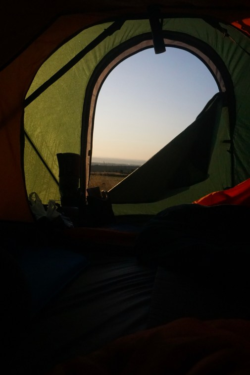 Waking up to a sunrise in the Welsh hills