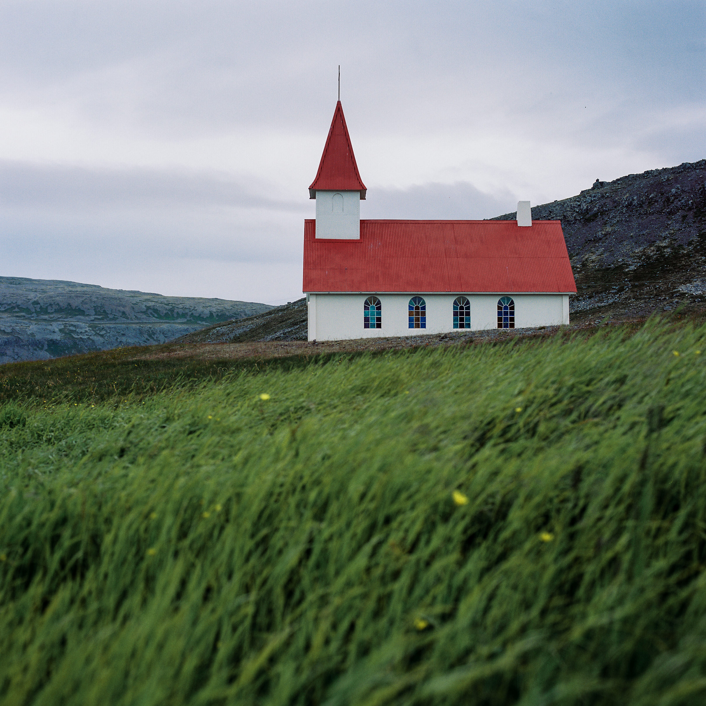 A typical church in Iceland