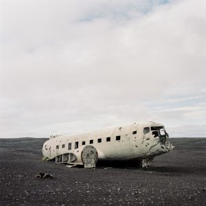 The crashed plane in Iceland shot on medium format film